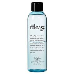@Overstock - Philosophy 'Just Release Me' Dual-phase Oil-free Eye Makeup Remover gently yet effectively breaks down and removes the toughest eye makeup, even waterproof makeup, without irritating the eyes.  http://www.overstock.com/Health-Beauty/Philosophy-Just-Release-Me-Eye-Makeup-Remover/7547628/product.html?CID=214117 CAD              27.03