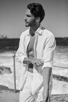 Dejan Obradovic- Male Model. Photography by Melinda Cartmer. Black & White. Timeless. Elegant.