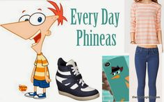 Everyday Cosplay with one of my all time favorite cartoons!  Phineas & Ferb!  Check out the blog to see how I put this look together!  http://www.thenerdygirlie.com/2013/10/every-day-cosplay-phineas.html