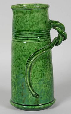 Early 20th Century Belgian Art Pottery Jug with Twisted Handled