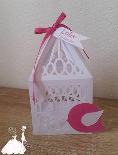 Boite Dragée Mariage Baptême Cage Oiseau : Autres papeterie par mariageandcie