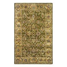 Shop for Safavieh Handmade Classic Olive/ Beige Wool Rug (4' x 6'). Get free…