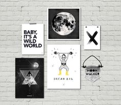 posters1 Cool Wall Decor, Room Posters, Dream Big, Baby Room, Cool Stuff, Life, Interiors, Fitness, Babies Nursery
