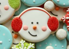 Winter Snowman Cookies