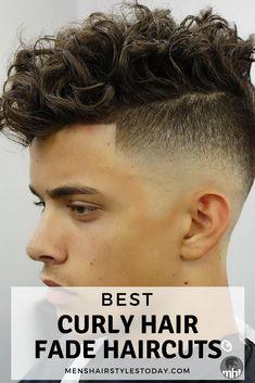 Best Curly Hair Fade Haircuts Boys Haircuts Curly Hair, Boys With Curly Hair, Curly Hair Cuts, Undercut Hairstyles, Hairstyles Haircuts, Haircuts For Men, Curly Hair Styles, Wavy Hair, Male Curly Hairstyles
