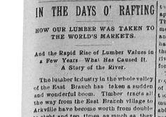 Catskill Mountain news., March 09, 1906 - In the Days O' Rafting