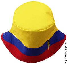 Colombia Flag Bucket Hat by Hamlet Pericles, Inc. | #HamletPericlesFashion  #BucketHat #Colombia #Colombian #Colombians #Colombiano #Colombianas #Colombianos #ColombianGirl #Colombiana #ColombiaModa #Bogota #Latino #Latinas #Latina #LatinAmerica #SouthAmerica #Etsy #Embroidery #CoolHat #CountryHat #Headwear #YellowBlueRed #Flag #StreetFashion #StreetStyle #Streetwear #Millinery #Tricolor #Unisex