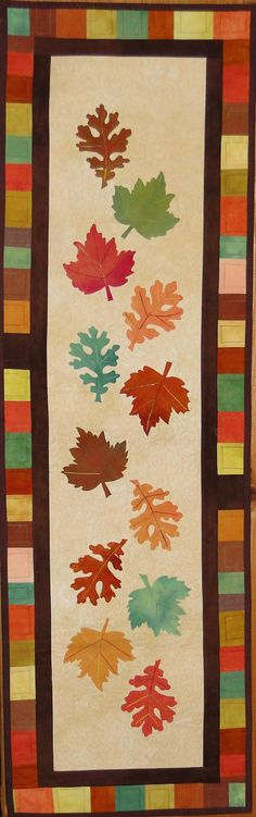Autumn table runner pattern