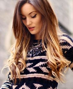 coloring my hair soon and i'm really into the whole ombre' look.