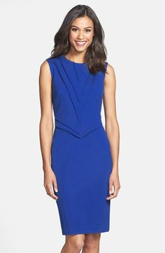 Taylor Dresses Pintuck Detail Ponte Sheath Dress (Regular & Petite) available at #Nordstrom