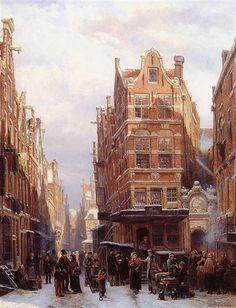 The+Jewish+quarter+in+Amsterdam+-+Cornelis+Springer