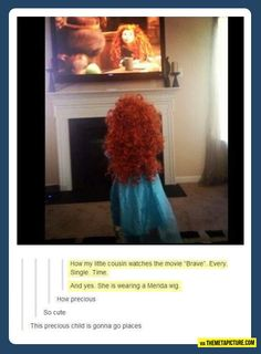 This is exactly what every child should do while watching Disney princess movies
