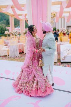 Gorgeous and Joyous Traditional Indian Wedding – Beginnings For You Photography 49 This impressively colorful three-day Indian wedding will tak your breath away. #bridalmusings #bmloves #indianwedding #wedding #ido #jubilant #colorful #punjab #Sangeet #Haldi #Mehendi #Jagoo #Chooda #weddingdestination Wedding Couples, Wedding Bride, Wedding Day, India Wedding, Wedding Outfits, Wedding Goals, Post Wedding, Rimple And Harpreet Narula, Sabyasachi Bride