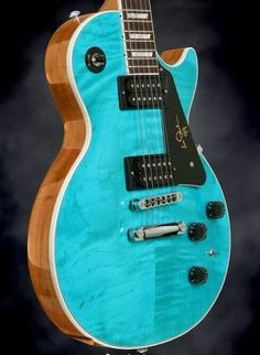 Guitar dreams in turquoise and black