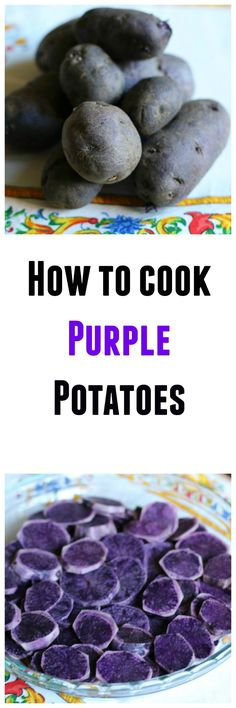 Learn how to cook purple potatoes with these 7 recipes. You will cooking these … Learn how to cook purple potatoes with these 7 recipes. You will cooking these like a pro. Vegetable Recipes, Vegetarian Recipes, Cooking Recipes, Healthy Recipes, Purple Potato Recipes, Purple Food, Purple Yam, Purple Sweet Potatoes, Fruit And Veg