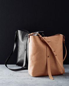 Eileen Fisher Classic Leather Bucket Cross-Shoulder Bag