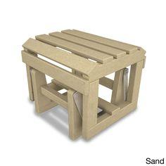 Classic Adirondack Glider Ottoman (Sand), Beige, Size Single, Patio Furniture (Plastic)