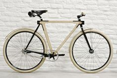 b is an urban bike made in France by BSG Bikes, made entirely of wood. Wood Bike, Wood Artwork, Urban Bike, Wood Worker, Bicycle Components, Cool Bicycles, Bicycle Design, Wooden Art, Transportation Design