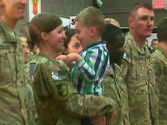 Mom's home! Toddler ignores military protocol, runs into soldier's arms - News - TODAY.com