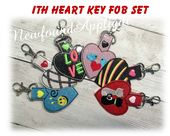 NFA Paw With Hearts Key Fob Embroidery Machine Design Freebie - Newfound Applique Applique Embroidery Designs, Machine Embroidery Applique, Cat Key, Machine Design, Key Fobs, Free Design, Hearts, Gift Wrapping, Stitch