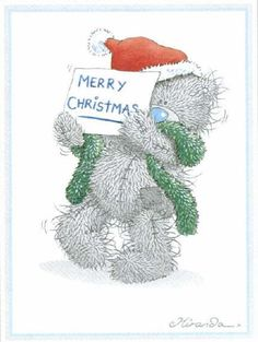 Tatty Teddy Merry Christmas sign