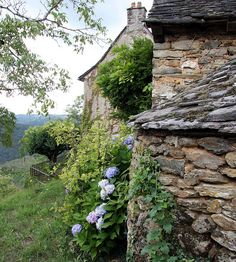 Ancient stonework in Village d'Aveyron