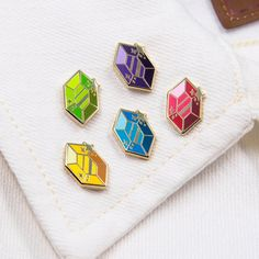 Pokemon, Hard Enamel Pin, Pin Enamel, Cool Pins, Pin And Patches, Metal Pins, Basic Colors, Different Colors, Pin Badges