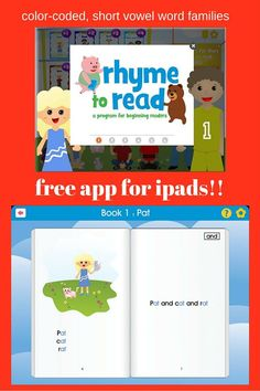 Are you looking for a way to help your young emergent reader start reading? Then check out this FREE app! Your preschool, Kindergarten, and 1st grade students will LOVE reading with the color-coded, short vowel word families. Created by two teachers, you're going to love this use of technology in your classroom OR homeschool!