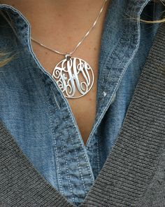get your own sterling silver monogram necklace for less than $35 - would make a great Christmas present for others or yourself ;)
