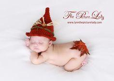 Scarecrow Baby Hat Newborn Fall Crochet PHOTO PROP