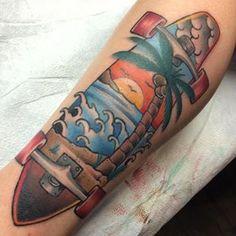 #tattoo #longboard #longboardtattoo