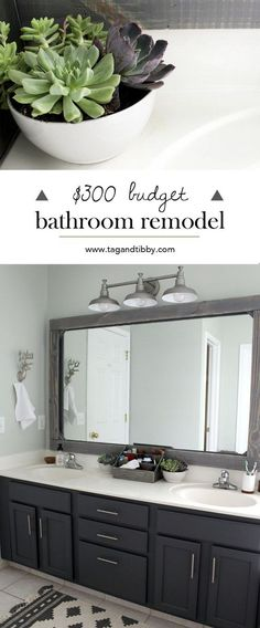 check out this mast bathroom remodel for 300 SW Sea Salt walls with SW Peppercorn cabinets Bathroom Renos, Bathroom Renovations, Home Remodeling, Bathroom Vanities, Kids Vanities, Bathroom Layout, Dark Vanity Bathroom, Brown Bathroom, Gold Bathroom