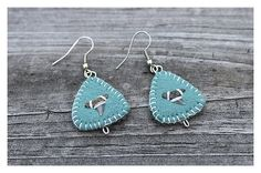 Shark Tooth Earrings on Felt  Completely Hand Made by enrooted, $20.00