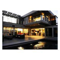 Lisa Ling's new Santa Monica house. solar panels above.
