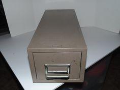 Vintage Globe-weis Metal industrial Punch card case index card File cabinet Mid Century Box storage Office by AltmodischVintage on Etsy