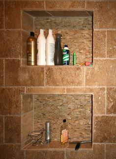 In wall shelves for shower