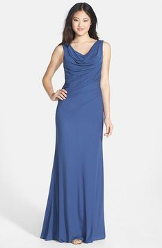 Vera Wang Sleeveless Jersey Gown available at #Nordstrom