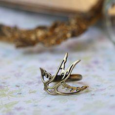 $9.99 Aviary Beauty Brass Ring