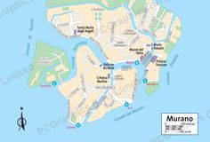 Map of Murano, Venice, produced by PCGraphics. See more of our maps on our website  http://www.pcgraphics.uk.com  or read our blog  http://www.pcgraphics.uk.com/blog/