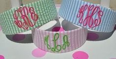 Monogrammed Headbands by SewInitially on Etsy, $15.00