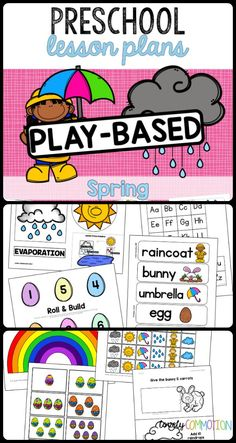 SPRING PRE-K LESSON PLANS: 2 weeks worth of play based preschool lesson plans revolving around the Spring theme!