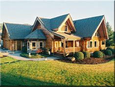 Valleyview Log Home Model by Homestead Log Homes. Call 877-TRYLOGS today for more info.