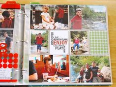 Video of Project Life album (love how she did the basic [for busy moms] form of Project Life--such an awesome idea!  Do this for our Year 4 Scrapbook