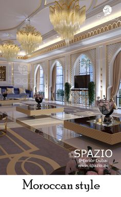 Modern majlis interior design in moroccan style. More ideas for your majlis interior desing on our website Interior Design Dubai, Interior Design Companies, Luxury Homes Interior, Luxury Home Decor, Modern Interior Design, Room Interior, Contemporary Interior, Modern Art, Moroccan Design