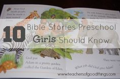 Teaching your preschool girls about these 10 Bible stories will give them inspiration to live like they did.