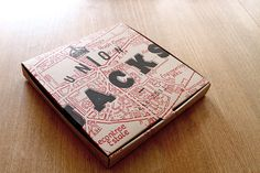 Pizza box for Union Jacks, Jamie Oliver's new restaurant by The Plant.
