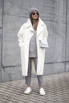 Outfit | A Grey And White Outfit Idea To Try This Winter