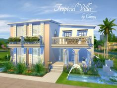 The Sims Resource: Tropical Villa by Chemy • Sims 4 Downloads