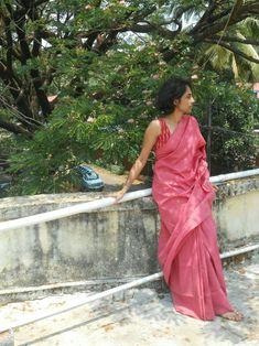 Simple cotton saree with ikkath work sleeveless blouse Saree Blouse, Sleeveless Blouse, Saree Collection, Cotton Saree, Indian Sarees, Indian Dresses, Bridal Dresses, Gowns, Saris