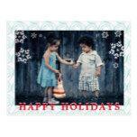 Snowflake Overlay Vortex Pattern Photo Frame Postcard